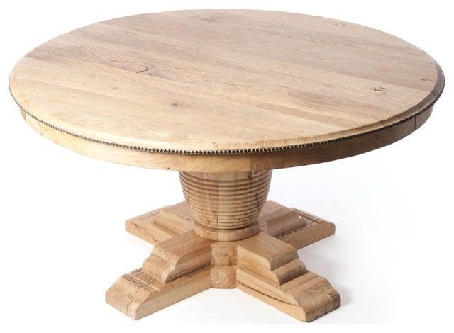 Attractive 60 inch round table with leaf