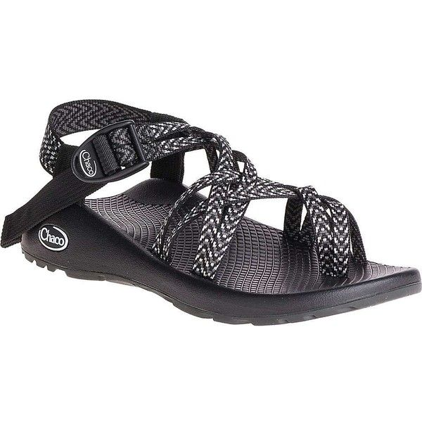 Chaco Women's ZX/2 Classic Sandal ($105) ❤ liked on Polyvore featuring shoes, sandals, boost black, black sandals, toe ring sandals, black buckle sandals, wrap around sandals and toe loop sandals