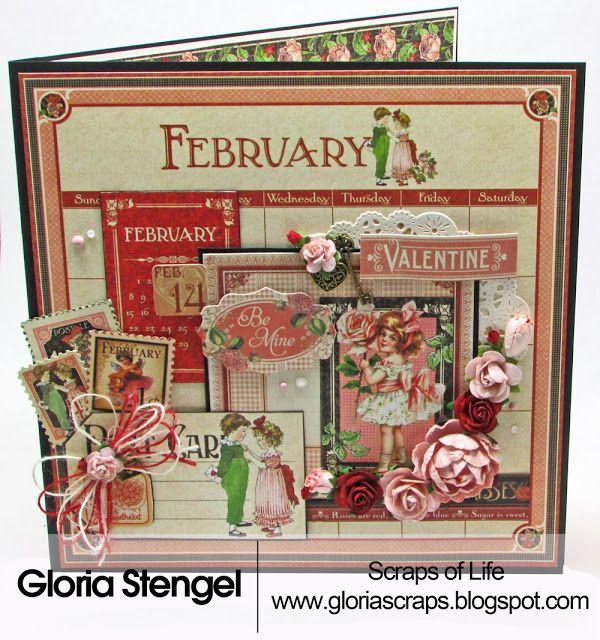 Scraps of Life: 2017 Calendar Folio Series - February