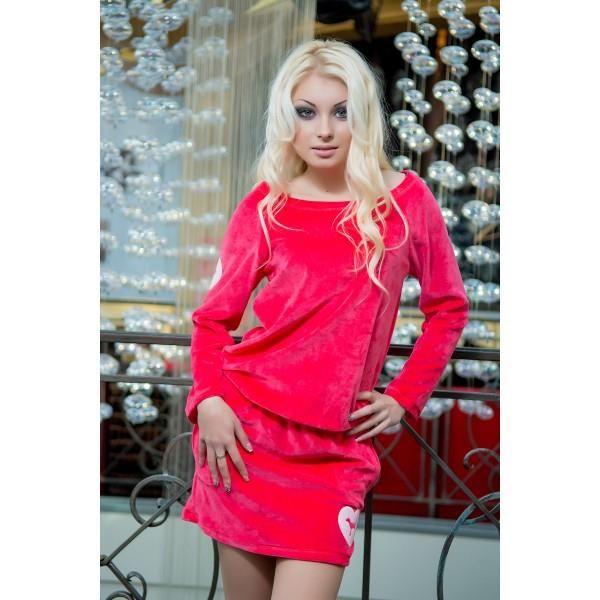Домашнее платье велюровое