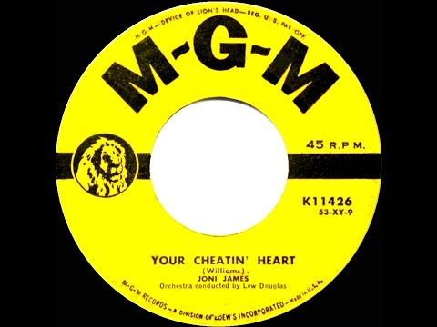 1953 HITS ARCHIVE: Your Cheatin' Heart - Joni James (her original version) - YouTube