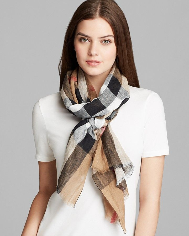 d6da87d0a75 ... get burberry giant exploded check linen scarf f1904 01e1e