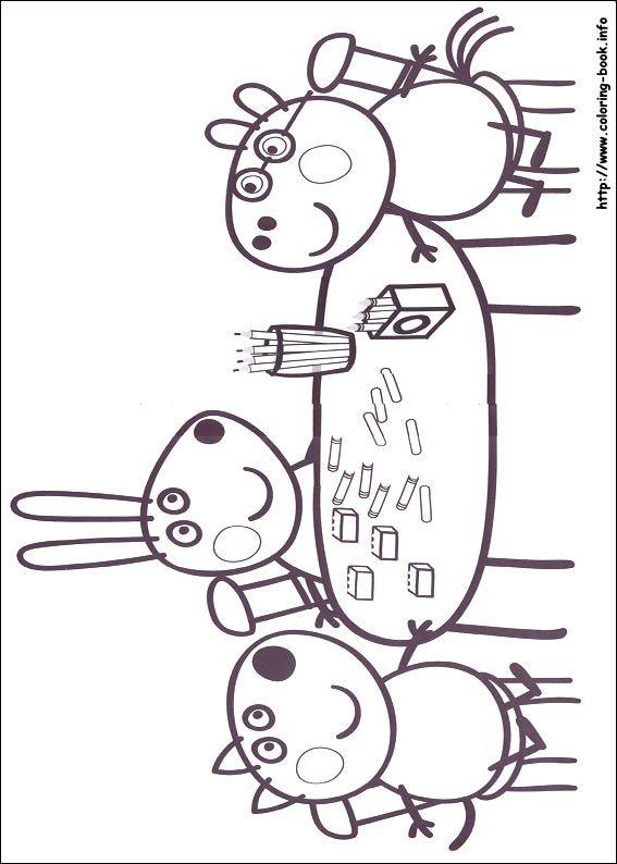 Best 25+ Peppa pig colouring ideas on Pinterest | Pepper pig world ...