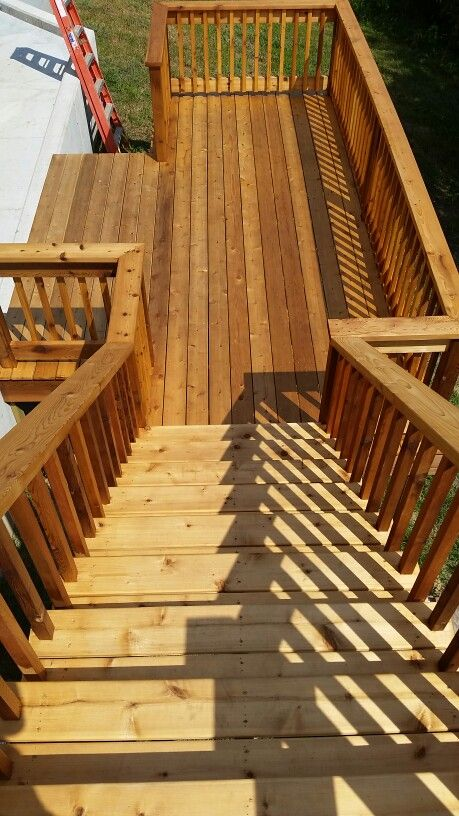 A deck we recently stained.