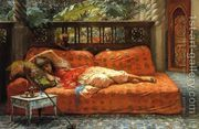 The Siesta  by Frederick Arthur Bridgman
