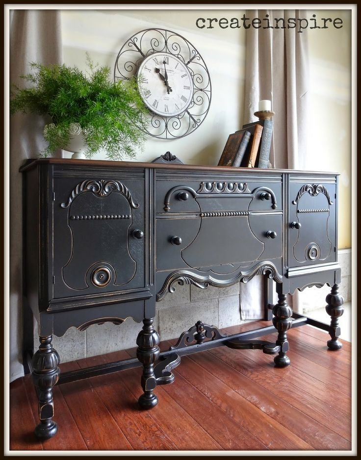 Best 25 antique buffet ideas on pinterest vintage buffet farmhouse buffets and sideboards for Antique black bedroom furniture