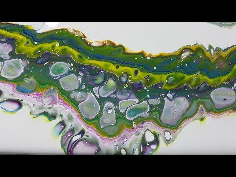 48 July Pouring Challenge - Cyan, Yellow & Magenta - YouTube