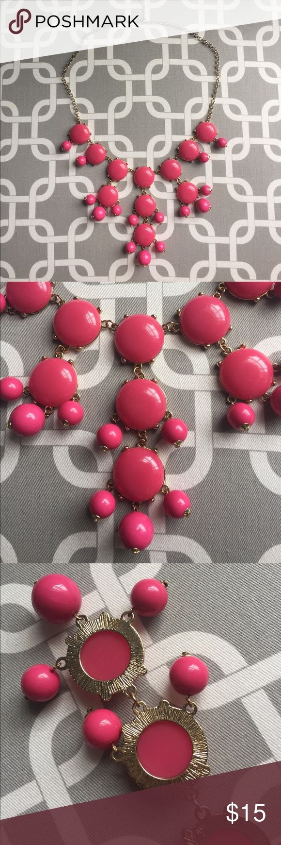 Perfect pink bauble necklace An outfit maker. With a white T and shorts. Or solid summer dress. Jewelry Necklaces