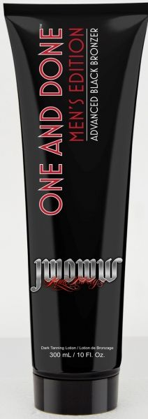 Guys, it's no secret how you like it...your tan that is! One and Done™ Men's Edition gives desirably dark, bronze color in one quick session. This advanced bronzing blend will have you noticeably darker, while Jenni's Signature Skincare Blend leaves skin moisturized and soft to the touch. The color is for your pleasure while the skin softening benefits are for her. Maximize your tanning experience with a product just how you like it, quick and easy.  One and Done™ Advanced ...