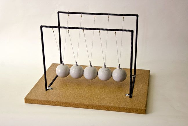 DIY Newton's Cradle - a little grownup-ish