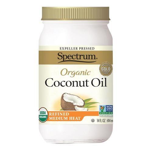 Spectrum Naturals Organic Refined Coconut Oil - Case Of 12 - 14 Fl Oz.
