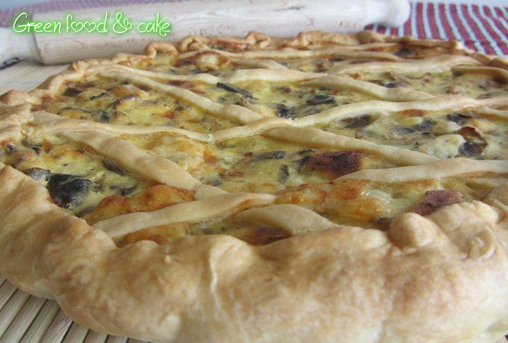 Crostata di funghi e salsiccia | Green food & cake