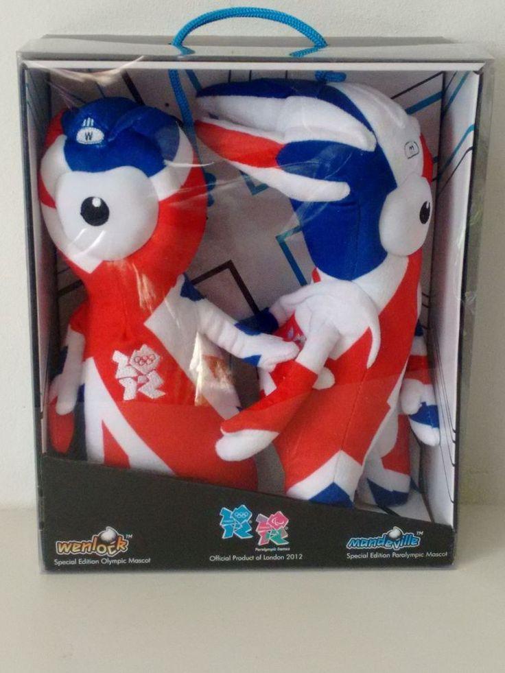 Wenlock & Mandeville London 2012 Plush Olympic Mascots Boxed Union Jack  | eBay