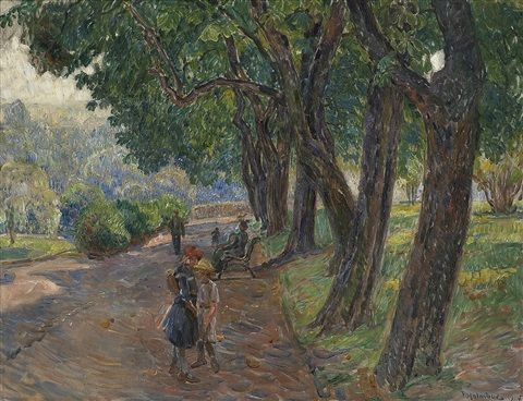 I parken by Thorolf Holmboe