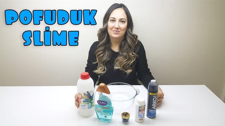 Mavi Pofuduk Slime Nasıl Yapılır - Fluffy Slime - Eğlendirici Çocuk Videosu