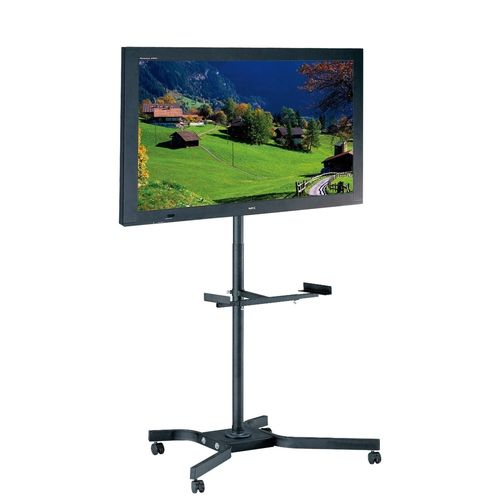 Mobile TV Cart Metal Stand for up to 46-inch TVs w/Swivel Locking Casters/Wheels