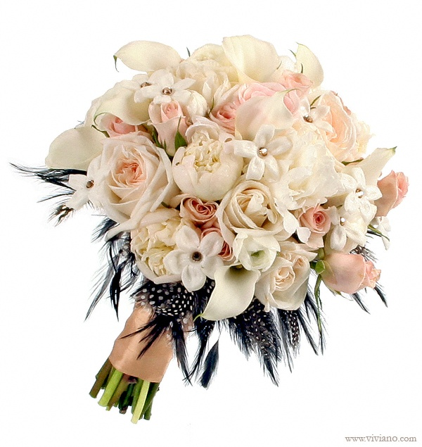 Wedding Bouquets With Feathers And Crystals : Best images about wedding bouquets on