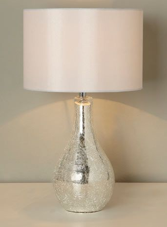 Sabrina Small Mirrored Crackle Table Lamp - lighting - Sale & Offers