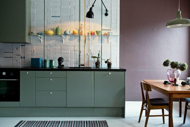 Isabelle mcallister kitchen tiles,+kitchen,+contrete+top,+designed+kitchen,+painted+kitchen,+green+kitchen,++tiles+collage,+isabelle+mcallister,+fantastic+frank