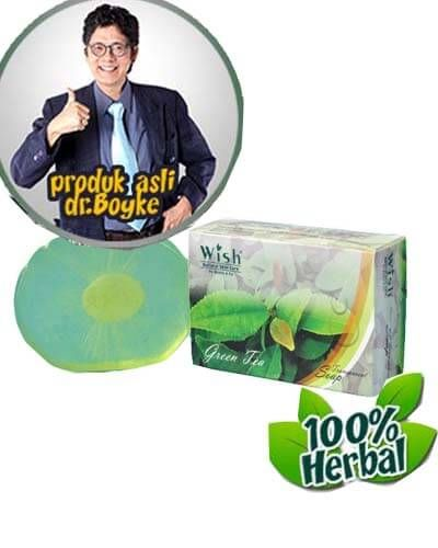Green Tea Soap Produk Wish Dr Boyke. Sabun teh hijau asli dari dokter boyke.