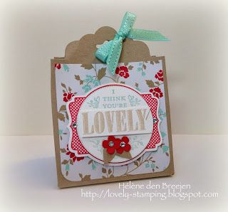 Stampin'Up! - Giftbag met Scallop tag topper punch