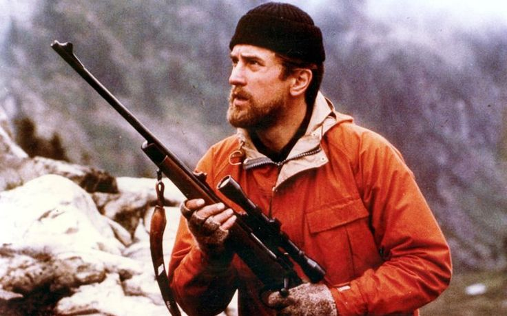 Robert De Niro in The Deer Hunter (1978). Winner of five Oscars, The Deer Hunter stars Robert De Niro and tells the story of three young American friends who are sent to fight in the Vietnam War.