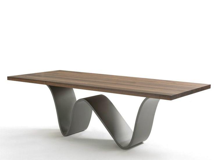 Rectangular solid wood and iron table BREE   n@casadesignboston.com