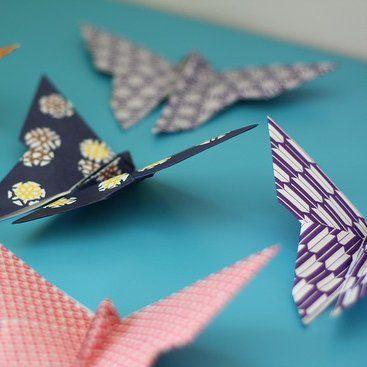 Des origamis en forme de papillon - Marie Claire Idées