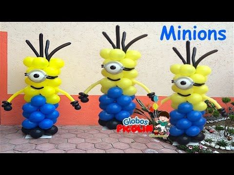 Minions columns.  Not in English, but  balloons are a universal language.  ;)