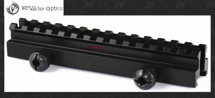 Vector Optics .223 Flat-Top Long Weaver Picatinny Riser See-through 20mm Rail Mount Base Fit Colt Bushmaster 15 #Affiliate