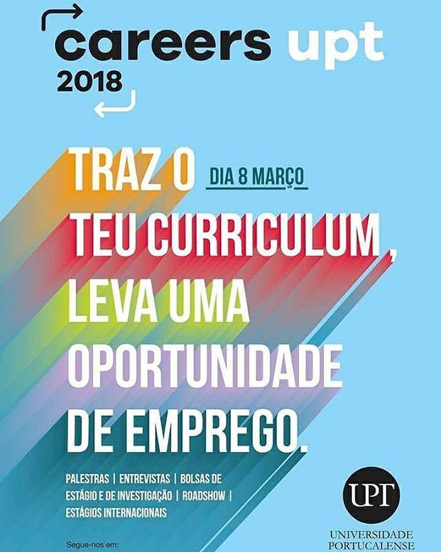 Anota na tua agenda dia 9 de março Careers UPT a feira de emprego da Universidade Portucalense! Nós vamos lá estar e tu?  Não percas está oportunidade!   #universidadeportucalense #nediup #upt #nediupoficial #instalike #careersupt #promotion #internship