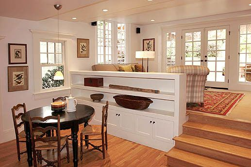If I ever have a house with a sunken kitchen or living room.  This is a better way to break it up than just a railing.