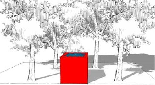 3 watertafels zij aan zij onder een boom. Credits: Sebastiaan Van Reeth. #watertafels #viveretto #tuindesign #tuinarchitectuur #buitenleven #water #garden #outdoor #waterfeature