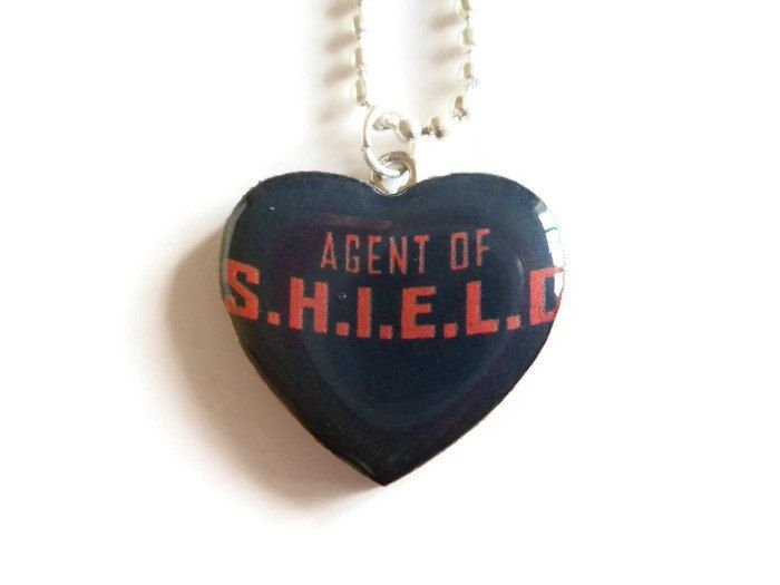 Agent of SHIELD Comic Book Necklace! Handmade Upcycled ~ Phil Coulson Marvel Jewelry Geekery Cosplay ~ Avengers Geek Gift Idea by KippleAndPelf on Etsy