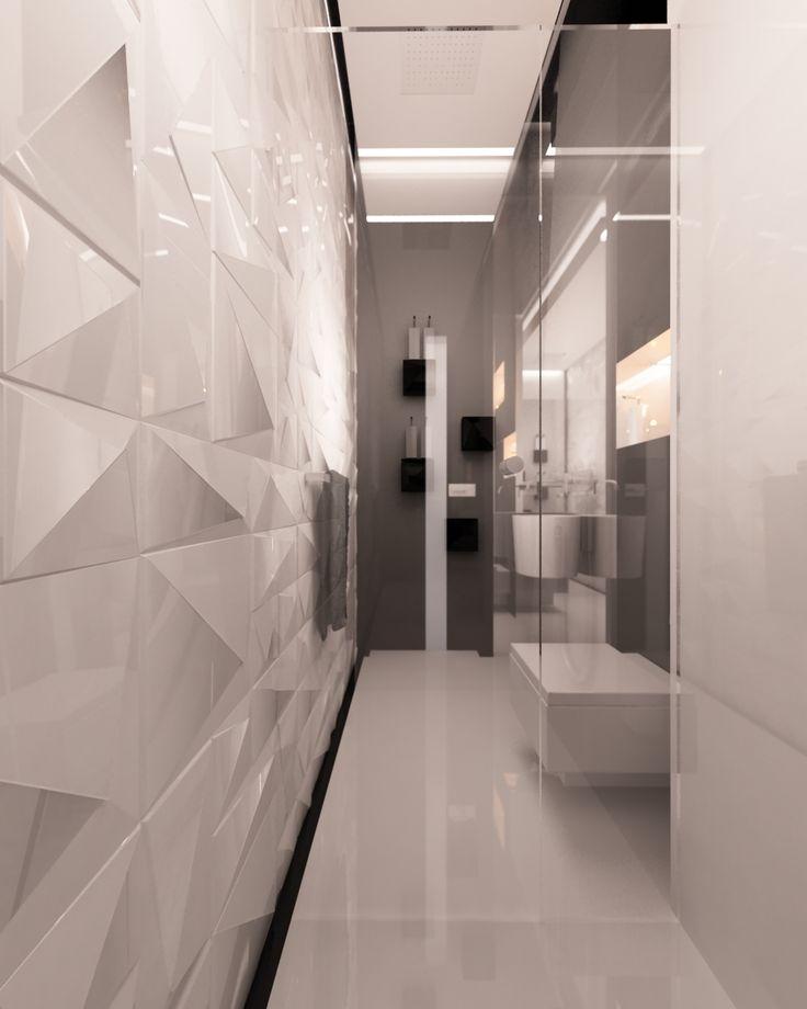 Czarno -biała elegancka toaleta dla gości