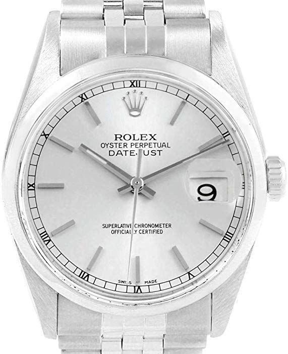 a2d72850461 Amazon.com: Rolex Datejust Automatic-self-Wind Male Watch 16200 (Certified  Pre-Owned): Rolex: Watches