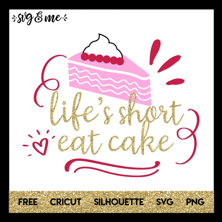 Goofy free svg design that reminds us that life is short so enjoy the things you love (like cake)! Make a DIY apron or kitchen tea towel in minutes with heat transfer vinyl using this design. Compatible with Cricut, Silhouette and other cutting machines.
