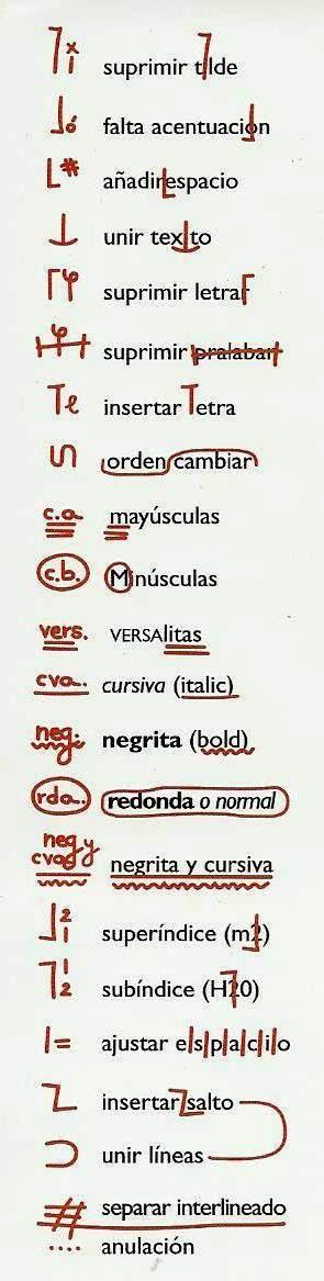 signos de correccion ortotipográfica - Buscar con Google