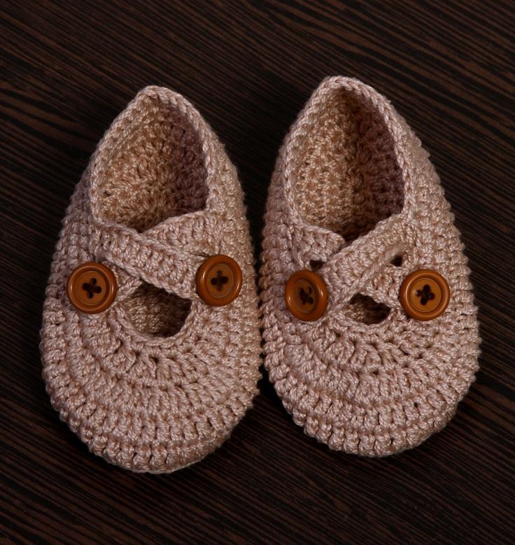 Sapatinho de Crochet Masculino  Crochet Shoes for Boys
