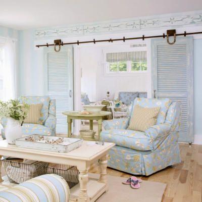 Doorway: Living Rooms, Idea, Beach House, Barn Doors, Color, Livingroom, Cottage, Sliding Doors