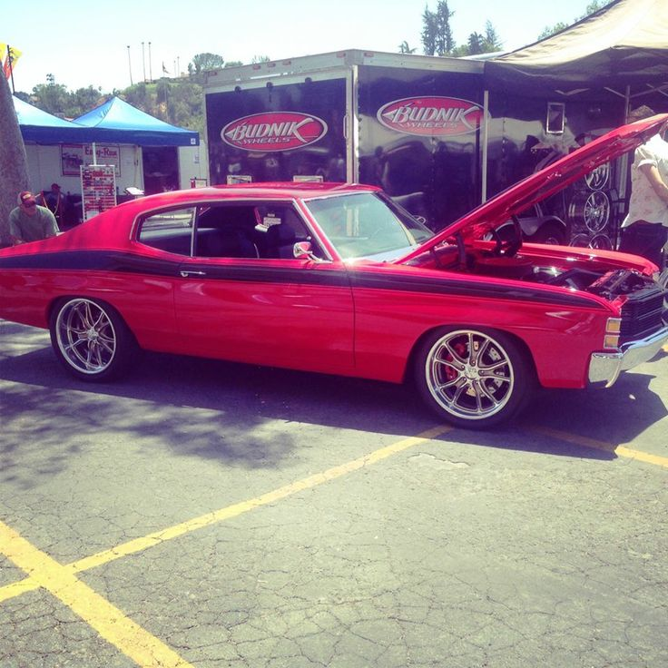 Chevelle Red Budnik Wheels Chevelle Non Stock And Pro