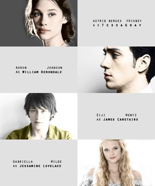 TID fan cast--- Tessa, Will, Jem, Jessamine. I agree, except for Will :/ But 100% sure for Tessa and Jessamine xD