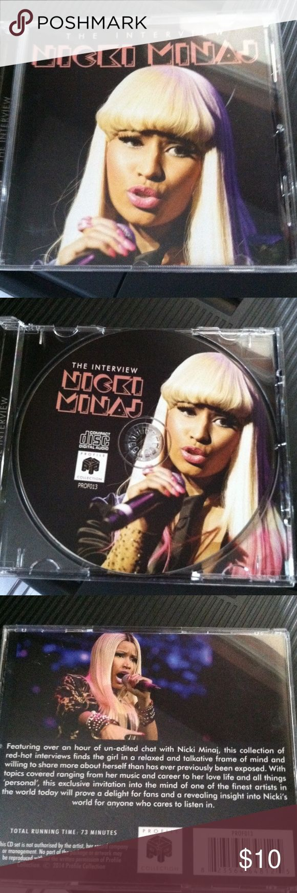 Nicki Minaj The Interview This is a gently used cd of a 73 minute interview with Nicki un-edited. Other