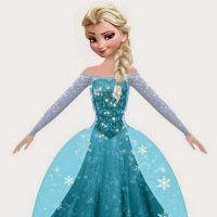 Elsa from Frozen: Free Printable Dress Shaped Box.