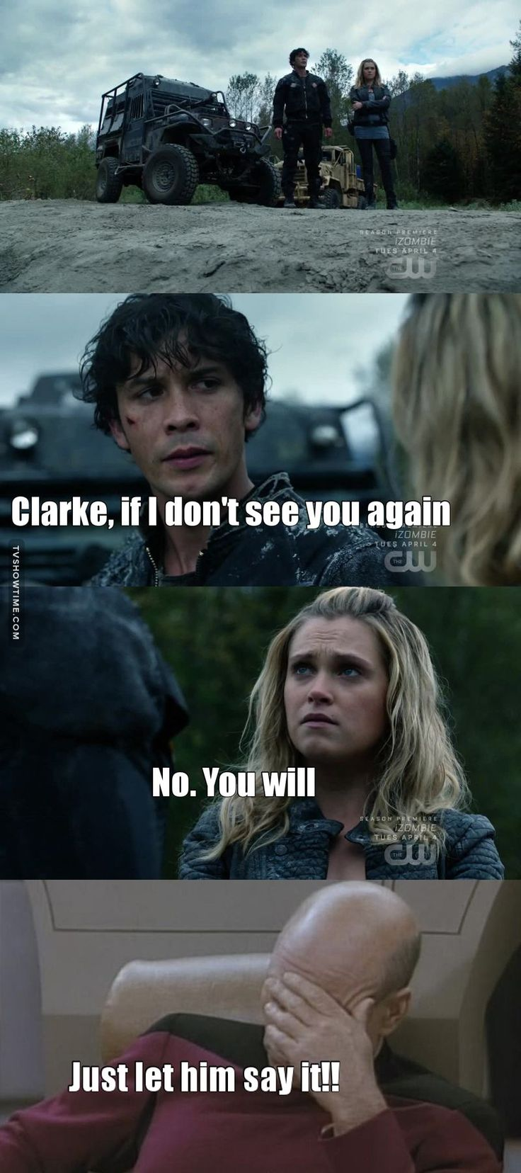 YOU JUST HAD TO KEEP YOUR MOUTH SHUT FOR A FEW MORE SECONDS!!!!!! WAS IT REALLY THAT HARD?!?!? BELLARKE ALMOST HAPPENED!!! SCREW YOU CLARKE!!!!!!