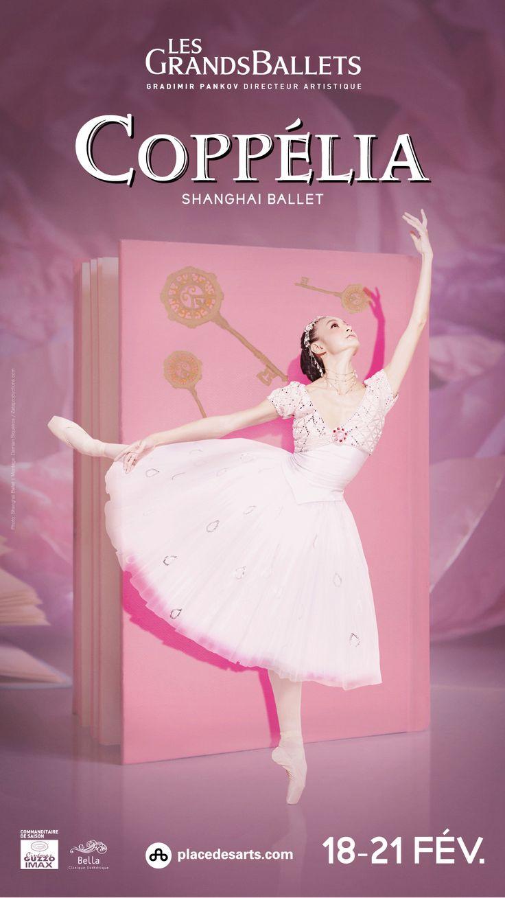 COPPÉLIA / SHANGHAI BALLET - LES GRANDS BALLETS. À la Place des Arts du 18 au 21 février 2016. Coppélia reçut un accueil triomphal lors de sa présentation à Paris, il y a plus d'un siècle. Le succès ne s'est jamais démenti.  Le chorégraphe français Pierre Lacotte inscrit cette adaptation de la nouvelle d'Hoffman dans une vision résolument classique : pantomime, mazurkas et danses de caractère rythment ce ballet frais et humoristique.