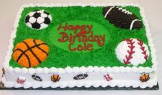 sports cakes for birthdays   Birthday Cakes