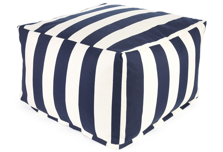 Striped Outdoor Ottoman: Decor Ideas, Outdoor Living, Outdoor Ottomans, One King Lane, Stripes Ottomans, Beaches Houses, Stripes Outdoor, Products, Kids Rooms