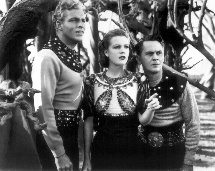 """'The Complete Adventures of Flash Gordon,' a new DVD set, features three films.  One of George Lucas' major influences for \""""Star Wars\"""" was the classic movie serial \""""Flash Gordon,\"""" starring Olympic swimming champion Larry \""""Buster\"""" Crabbe in the title role. Alex Raymond's sci-fi comic strip began in 1934 and two years later, Universal premiered \""""Flash Gordon:"""