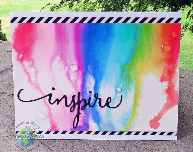 Creative Blessings: Rainbow Watercolor Waterfall with Zig Real Color Brush Markers w/ Video
